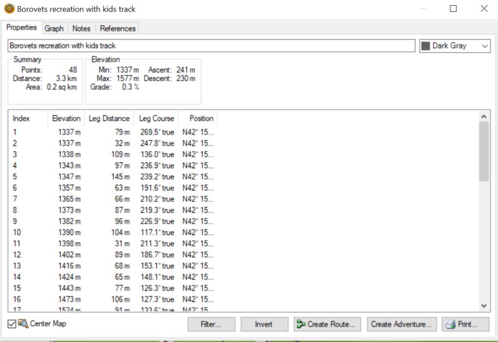 GARMIN Base Camp Outdoor softver track analitics